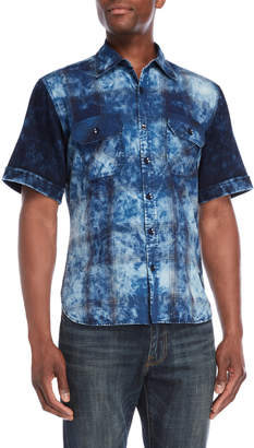PRPS Bleached Plaid Short Sleeve Shirt