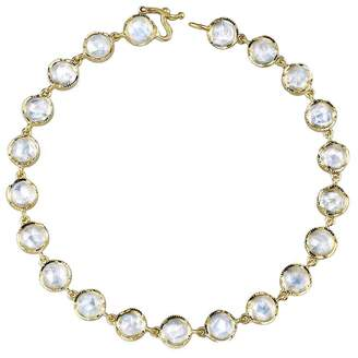 Irene Neuwirth Rose Cut Rainbow Moonstone Bracelet - Yellow Gold
