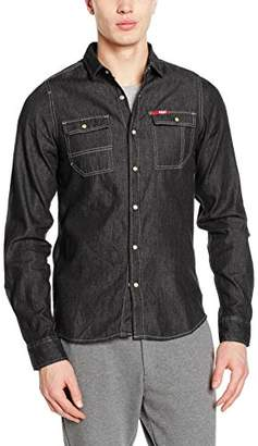 ... Lee Cooper Mens Shirt Stanton T (Washed Black) e58cd35166