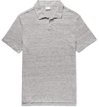 Onia Shaun Slim-Fit Slub Linen Polo Shirt
