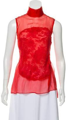 Givenchy Sleeveless Lace Top