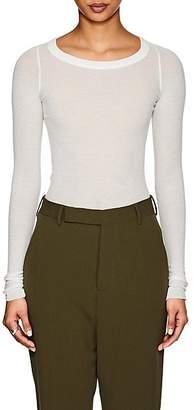 Rick Owens Women's Gossamer Cotton Long-Sleeve T-Shirt - Milk