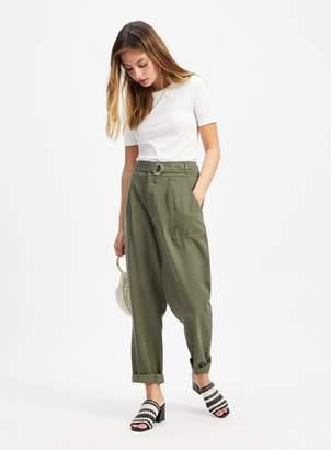 Miss Selfridge PETITE Khaki Casual Trousers