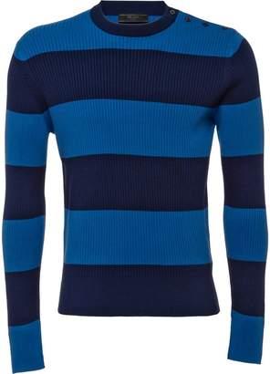Prada buttoned shoulder jumper