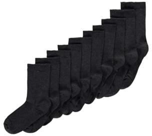 Grey Boys School Socks 10 Pack