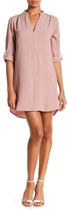 Lush 3\u002F4 Length Sleeve Novak Shift Dress