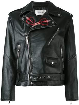 Valentino love blade embroidered jacket