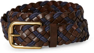 Tailorbyrd Brown & Navy 35MM Braided Belt