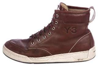Y-3 Leather Hiking Boots