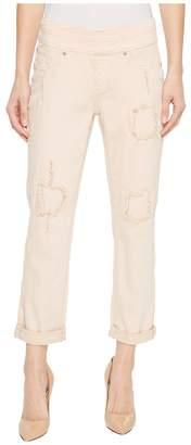Tribal 25 Stretch Twill Pull-On Boyfriend Pants in Camelia Women's Jeans