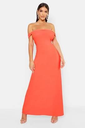 boohoo Off The Shoulder Bardot Maxi Dress