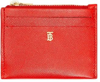 Burberry Monogram Motif Grainy Leather Zip Card Case