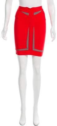 Herve Leger Colorblock Bandage Skirt