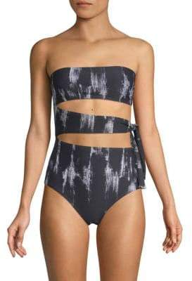Proenza Schouler One-Piece Printed Bandeau Swimsuit
