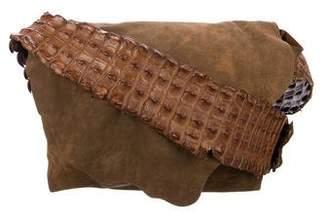 Michael Kors Crocodile-Trimmed Shoulder Bag
