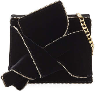 No.21 No. 21 Velvet Jeweled Shoulder Bag