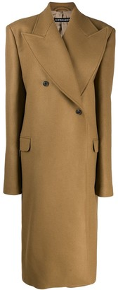 Y/Project double-breasted overcoat