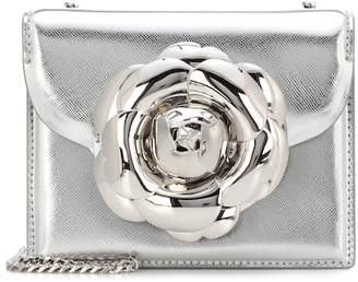 Oscar de la Renta TRO metallic leather shoulder bag