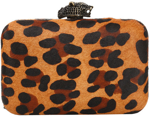 Orlina Clutch in Leopard Pony - by House of Harlow 1960 Handbags