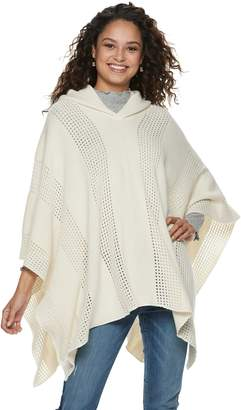 Mudd Women's Woven Hooded Poncho
