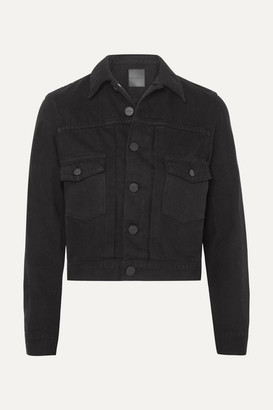 Gold Sign The Pleat Denim Jacket - Black