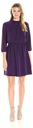 James & Erin Women's High Neck Georgette Dress