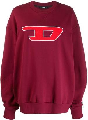 Diesel logo appliqué sweatshirt