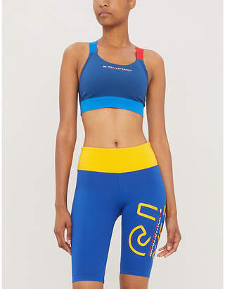 Tommy Hilfiger Purist logo-print stretch-woven sports bra