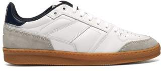 Ami Basket Leather And Suede Low Top Trainers - Mens - White Navy
