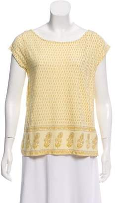 Calypso Short Sleeve Printed Top