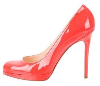 Christian Louboutin New Simple Round-Toe Pumps