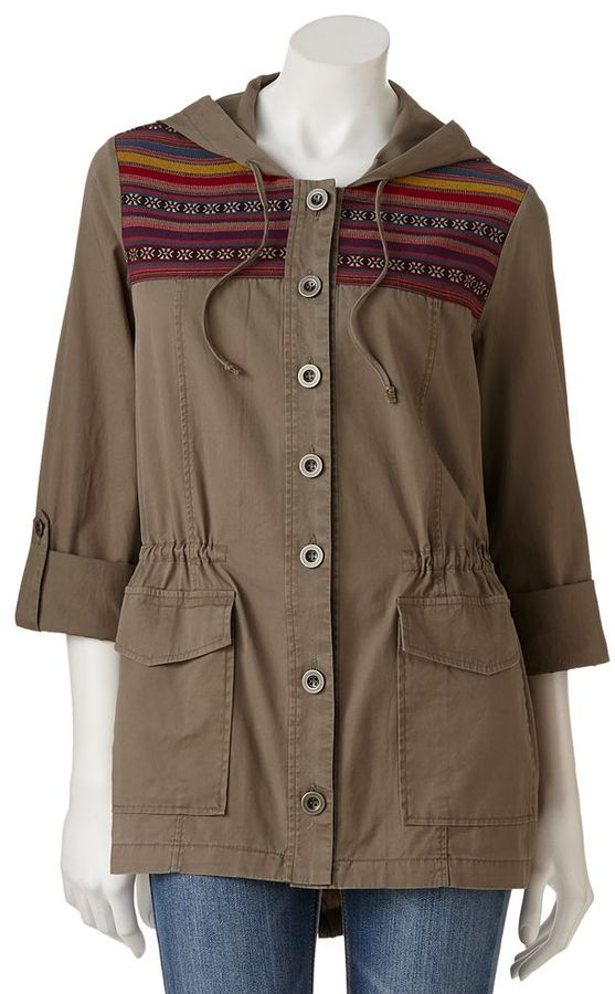 Stooshy embroidered anorak jacket - juniors
