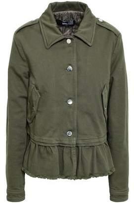 Love Moschino Ruffled Frayed Denim Jacket