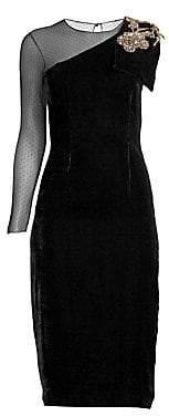 Sachin + Babi Sachin& Babi Sachin& Babi Women's BaliAsymetric Velvet Sheath Dress