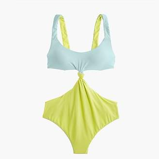 J.Crew Reversible knot-front one-piece swimsuit