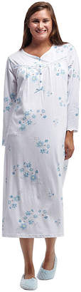 La Cera Long Sleeve Nightgown