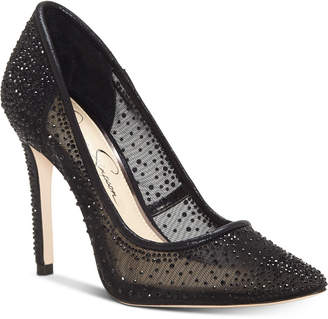 Jessica Simpson Prianne Embellished Mesh Pumps Women Shoes