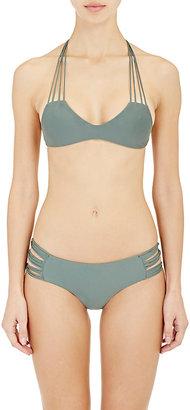 Mikoh Women's Banyans Racerback Bikini Top-GREEN, DARK GREEN $115 thestylecure.com