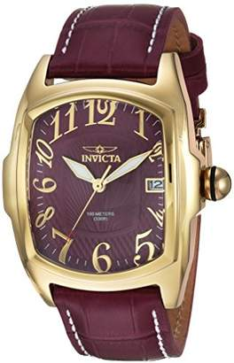Invicta Men's 'Lupah' Automatic Gold-Tone and Leather Casual Watch