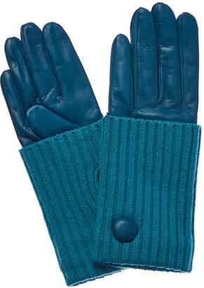 Portolano Bay Cashmere-Lined Leather Gloves