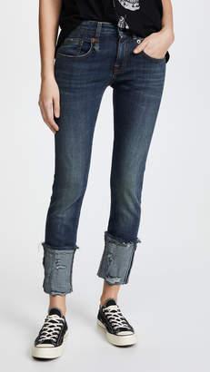 R 13 Boy Skinny Jeans with Cuffs