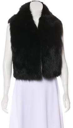 Cassin Sherry Cropped Fur Vest