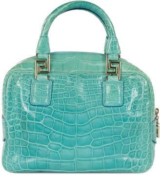 Versace Couture Alligator Leather Handbag