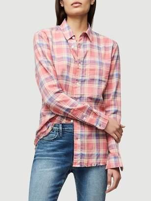 Frame Denim True Plaid Shirt Red Multi