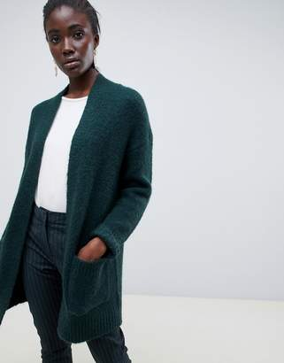 Selected longline wool cardigan