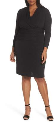 Vince Camuto Wrap Front Sparkle Jersey Dress