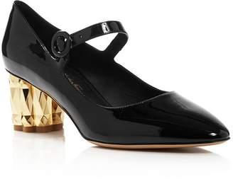 4711c7af437 Salvatore Ferragamo Women s Ortensia Geometric Block-Heel Pumps