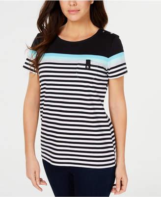 Karen Scott Aster Striped Top, Created for Macy's