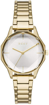 DKNY Women Cityspire Gold-Tone Stainless Steel Bracelet Watch 34mm