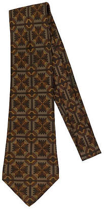 One Kings Lane Vintage Hermès Brown Geometric Silk Tie